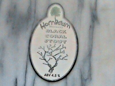 Hornbeam Black Coral Stout real ale beer pump clip sign