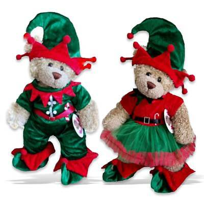 Teddy Bear Clothes fits Build a Bear Teddies Christmas Elf Boy Girl Outfit