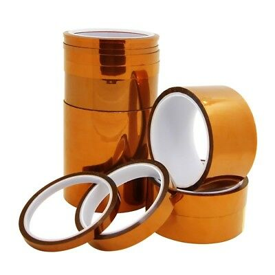 5-50mm x 33M 100ft High Temperature Heat Resistant Kapton Tape Polyimide