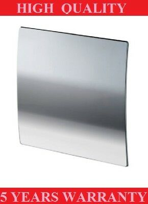 POLISHED CHROME BATHROOM EXTRACTOR FAN WITH TIMER 100mm WALL/ CEILING