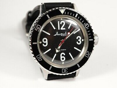 Vostok Bezel for Amphibian and Komandirskie Watch with Aluminum Black Insert