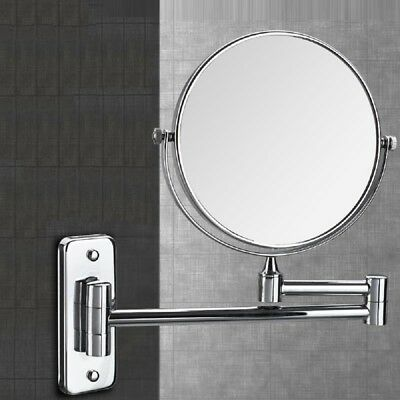 Extending Wall Mounted Large Double Sided Chrome Shaving Bathroom Swivel Mirror