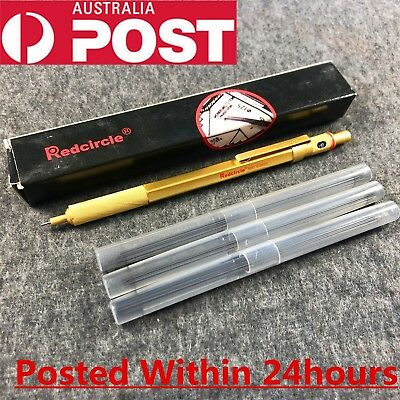 RedCircle metal Mechanical Pencil 0.5mm material Golden With 3 sets of 11cm lead