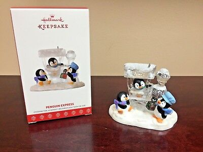 2017 Hallmark Ornament Penguin Express