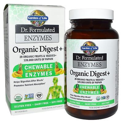 Garden of Life Dr. Formulated Enzymes Organic Digest Tropical 90 Chewables