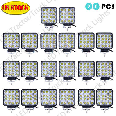 20X 48WLED Work Light Flood Light OffRoad ATV SUV Boat Jeep Truck /Spot 12V 24V