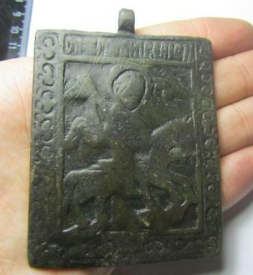 Medieval icon.15th century Metal detector finds. 100% original
