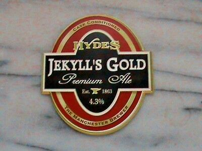 Hydes Jekyll's Gold premium ale real ale beer pump clip sign