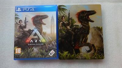 Ark Survival Evolved PS4 with Ark Survival Evolved Steelbook for PlayStation 4.