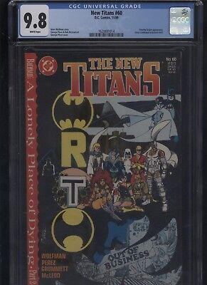 New Titans #60 CGC 9.8 - A Lonely Place of Dying - BATMAN teen 1989 George Perez