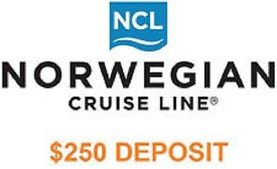 $157 NCL NORWEGIAN CRUISE LINE $250 DEPOSIT / VOUCHER / CERTIFICATE March 2022