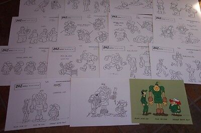 PRIVATE OLIVE OYL ANIMATORS' MODEL SHEETS HANNA BARBERA Artist Reference Guide