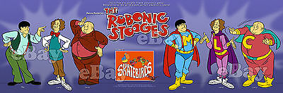 EXTRA LARGE! THREE ROBONIC STOOGES Panoramic Photo Print HANNA BARBERA Studios