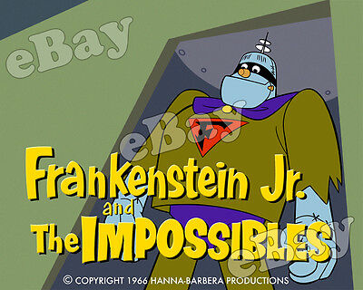EXTRA LARGE! FRANKENSTEIN JR Poster Print HANNA BARBERA Main Title IMPOSSIBLES