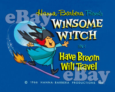 NEW!! EXTRA LARGE! WINSOME WITCH Poster Print HANNA BARBERA Studios TITLE CARD