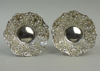 A Pair Of Antique Silver Bon Bon Dishes Of Quality - Sheffield 1909 158 Grams