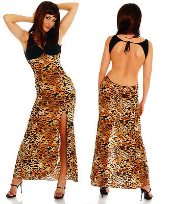 Top Womens Maxi Dress Ladies Party Sexy Backless Leo Long Blouse Size 6 8 10 12