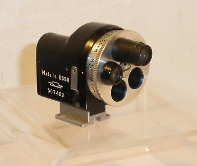 UNIVERSAL Russian TURRET VIEWFINDER 28mm-135mm for Leica Fed Zorki Contax  (Ian)