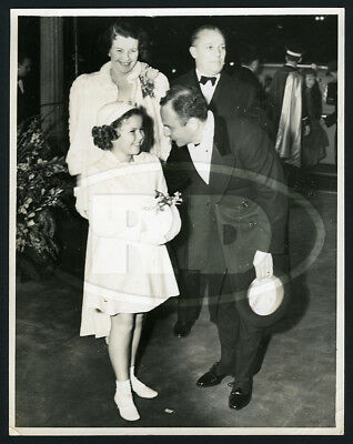 1939 Original Int News Photo - Shirley Temple Darryl Zanuck at Princess Premiere