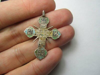 Silver cross 17-18th century. Metal detector finds 100% original