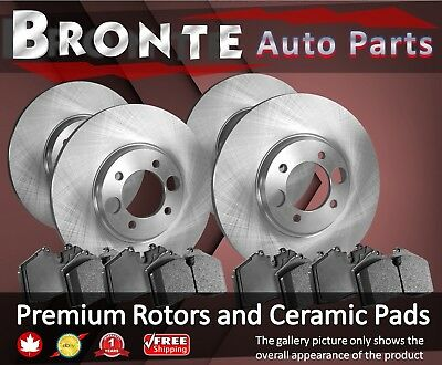 2007 2008 for Pontiac G6 Front /& Rear Brake Rotors /& Pads 296mm Outer Dia