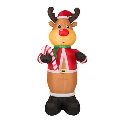7.87 ft. L Lighted Inflatable Reindeer Decor Merry Christmas Holiday Gift