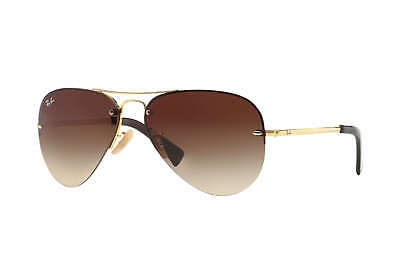 a1421533c2686 New Ray Ban RB3449-001 13-59 Gold   Brown Gradient 59mm Sunglasses