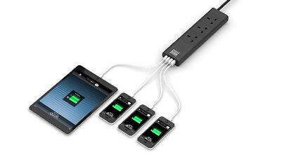Surge Protected Multi Socket - Black  UK style & USB outlets all surge protected