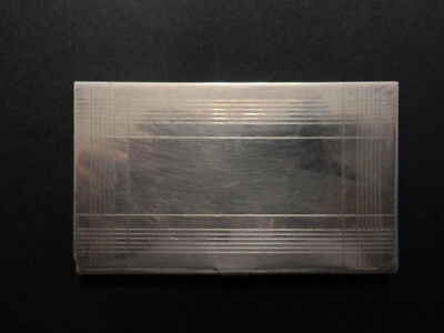 Tiffany & Co. Sterling Silver Notes Business Card Case/Holder 57.5g