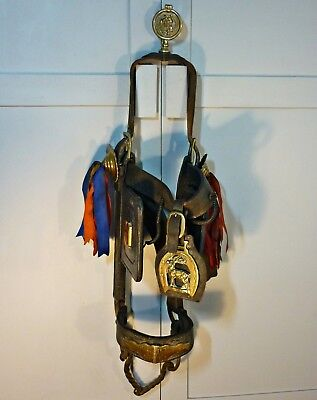 Antique Horse Bridle Lovely Original Leather & Brass by AW Streeter Mayfield