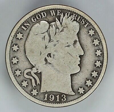 1913 P Barber Half Dollar 50C Choice Vg Very Good (6791)