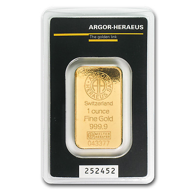 1 oz Gold Bar - Argor-Heraeus - eBay - SKU #82987