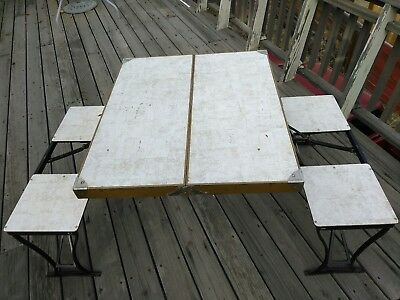 Handy Milwaukee Stamp Co. Foldable Picnic table.