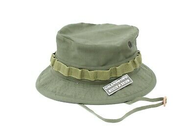 "Vietnam 2"" Od Green Jungle Hat Ripstop Made In Usa New Reproduction"