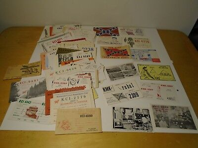 HUGE LOT OF 260+ 1960's Amateur QSL CB Radio Ham Cards ALL FROM VIRGINIA 1960's