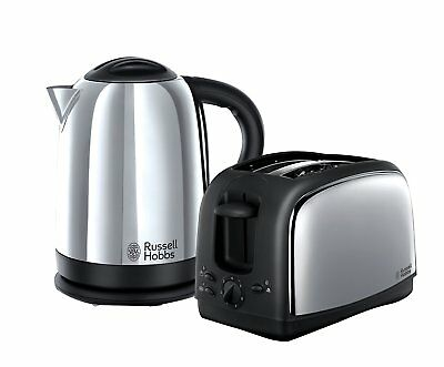 Russell Hobbs Lincoln Kettle & 2-Slice Toaster 21830, Stainless Steel, Pack of 2