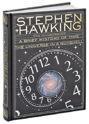 A Brief History of Time Illustrated by Stephen Hawking Hardcover Book Leather