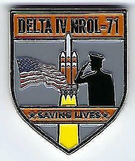 Delta Iv Nrol-71 Mission Coin - Saving Lives And Supporting The Troops