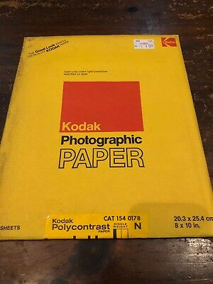 Vintage Kodak Polycontrast Single Weight N 8x10in Photographic Paper