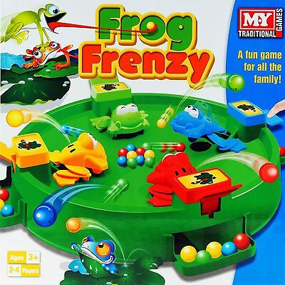Frog Frenzy Board Game Children Kids Toy Game Gift Family Fun 4 Players Catch Em