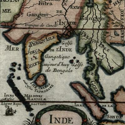 India Southeast Asia Siam Tartary 1683 Mallet charming old map