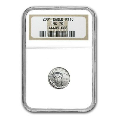 2001 1/10 oz Platinum American Eagle MS-70 NGC - SKU #22472