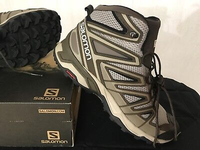 the latest d4352 ebfe6 SALOMON MENS X Ultra Mid 3 Aero 10 Or 10.5 Or 11.5 Vintage Kaki Wren Black  Nib
