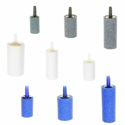 Aquarium Air Stones Cylinder Shape Blue Grey White Various Sizes For Fish Tank