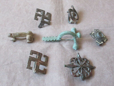 Rare Collection of (x7) Ancient Roman Brooch Fibula