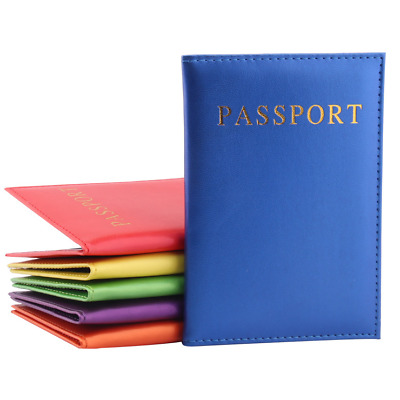 Travel Wallet Case Holder Organiser Protector PU Leather Passport Thin Cover Bag