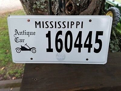 Mississippi Antique  Car  License Plate #160455. Unused