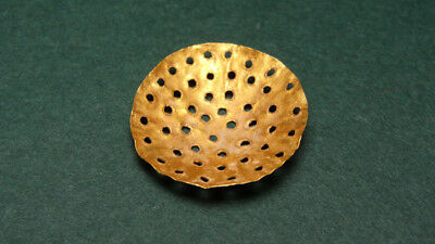 Ancient Gold Strainer Egyptian Late Period 716-30 Bc