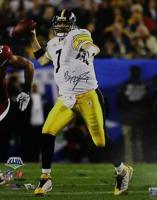 100% authentic 561f7 fcff7 BEN ROETHLISBERGER AUTOGRAPHED Signed Pittsburgh Steelers ...