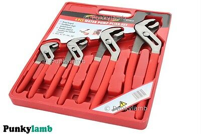 "4 Piece Adjustable Head Water Pump Pliers Set 6""/8""/10""/12"" Inch Plier Tool New"